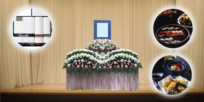 生花祭壇+料理
