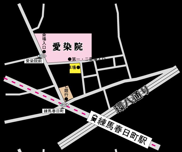 愛染院会館アクセス地図